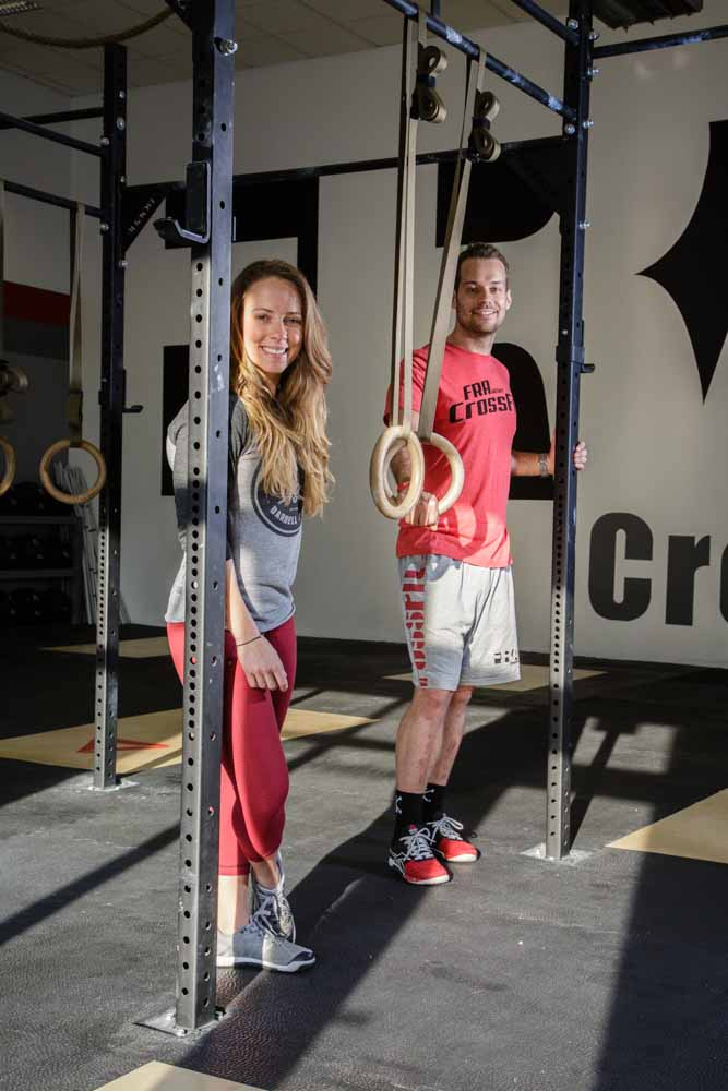 The two directors of CrossFitFra, photographed for the Financial Times.