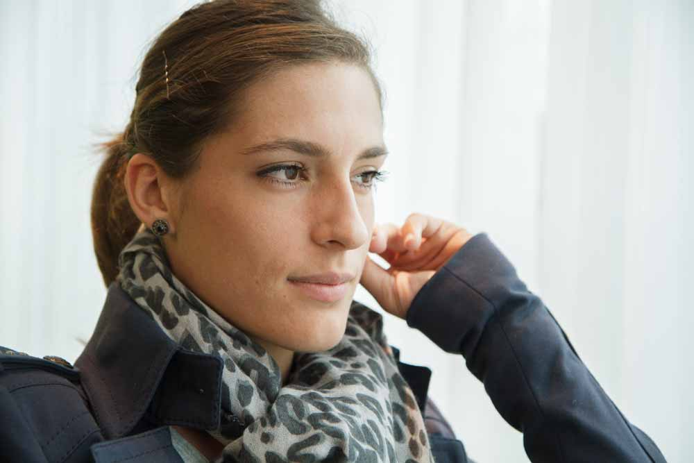 Portrait of the German tennis player Andrea Petkovic. Photographed for Focus.